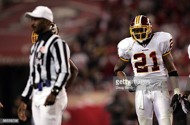 Safety Sean Taylor of the Washington Redskins is ejected from the game for unsportsmanlike conduct by referee Mike Carey in the third quarter against...