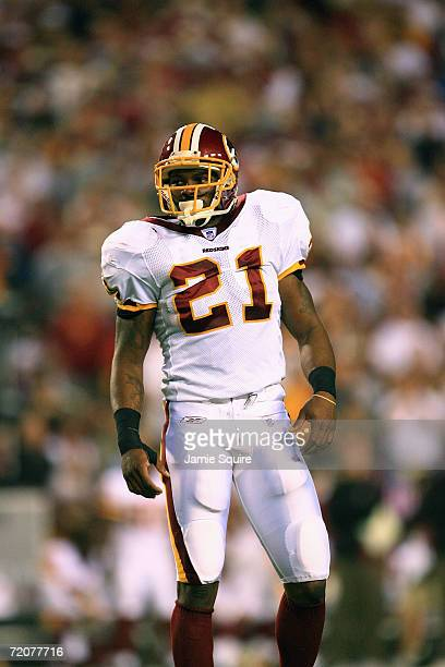 Safety Sean Taylor of the Washington Redskins looks on while taking on the Minnesota Vikings during the first Monday Night Football game of the...