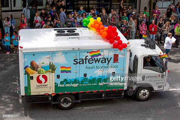 safeway and seattle gay pride festival 40th anniversary celebration - sponsorship stock pictures, royalty-free photos & images