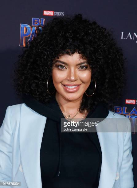Saffi karina attends Marvel Studios Presents Black Panther Welcome To Wakanda during February 2018 New York Fashion Week The Shows at Industria...