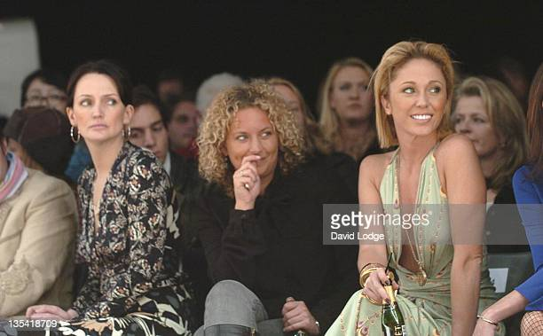 Saffron Aldridge and Jenny Frost during London Fashion Week Autumn/Winter 2006 Issa Front Row at BFC Tent in London Great Britain