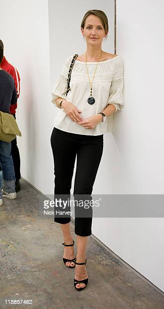 Saffron Aldridge attends Marine Hugonnier's 'The Secretary of the Invisible' exhibition private view at the Max Wigram Gallery 28 Redchurch Street in...