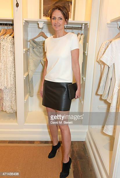 Saffron Aldridge attends the book launch party for 'India Hicks Island Style' at Ralph Lauren Fulham Road on April 28 2015 in London England