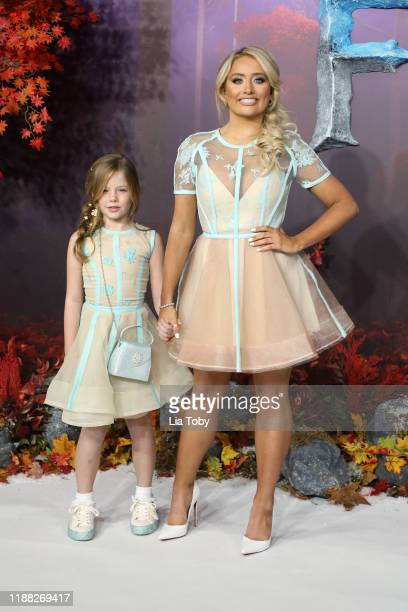 Saffron Barker and her cousin Ivy attend the Frozen 2 European premiere at BFI Southbank on November 17 2019 in London England