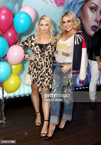 Saffron Barker and Tallia Storm attend the Urban Decay Collection Launch at The Curtain on February 15 2018 in London England