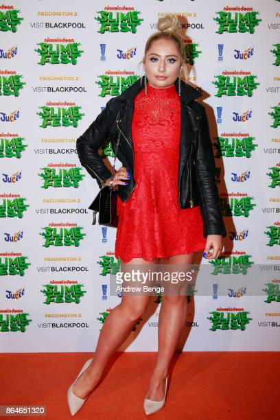 Saffron Barker attends Nickelodeons SLIMEFEST Highlights from the slimefilled event will air on Nickelodeon on Friday 3rd November at 5pm in...