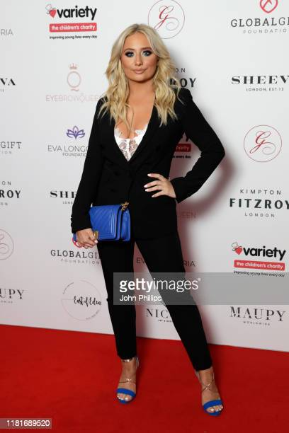 Saffron Barker attends the annual Global Gift Gala London at Kimpton Fitzroy Hotel on October 17 2019 in London England