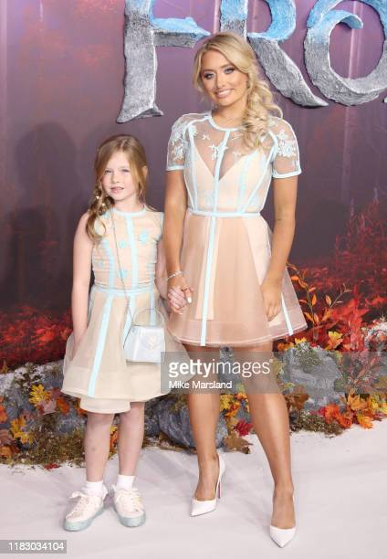 Saffron Barker attends the Frozen 2 European premiere at BFI Southbank on November 17 2019 in London England