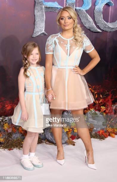 "Saffron Barker attends the ""Frozen 2"" European premiere at BFI Southbank on November 17, 2019 in London, England."