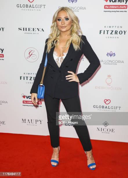 Saffron Barker attends the Global Gift Gala at Kimpton Fitzroy in London.