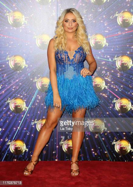 Saffron Barker attends the Strictly Come Dancing launch show red carpet at Television Centre on August 26 2019 in London England