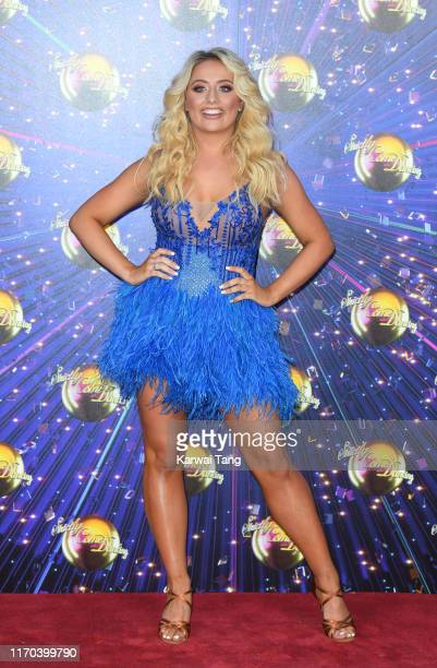 Saffron Barker attends the Strictly Come Dancing launch show red carpet arrivals at Television Centre on August 26 2019 in London England