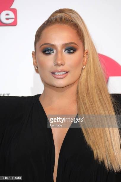 Saffron Barker attends The TV Choice Awards 2019 at Hilton Park Lane on September 9 2019 in London England