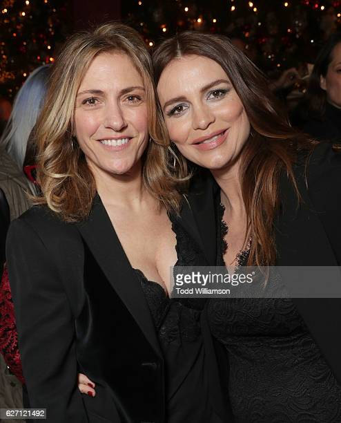 Saffron Burrows and Alison Balian attend the 'Mozart In the Jungle' Red Carpet Premiere and Concert held at The Grove on December 1 2016 in Los...