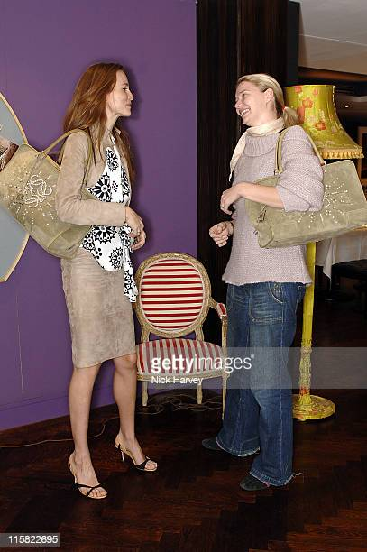 Saffron Burrows and Jodie Kidd during Loewe Lunch at The Hospital at The Hospital in London Great Britain