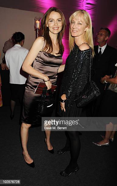 Saffron Burrows and Joely Richardson celebrated in style at The Old Vic 192 Summer Party supported by W Doha at Battersea Power station on July 1...