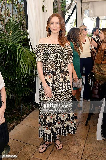 Saffron Burrows attends NETAPORTER Celebrates Women Behind The Lens at Chateau Marmont on February 26 2016 in Los Angeles California