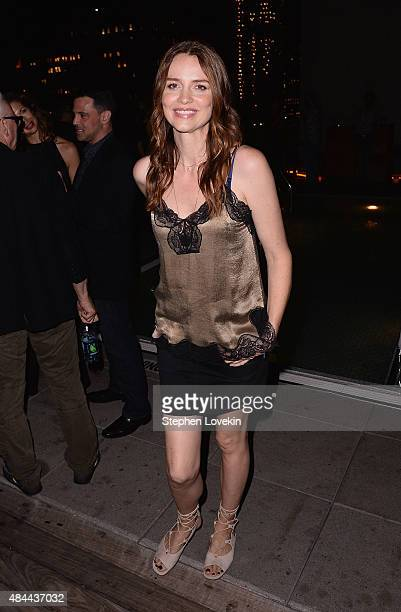 Saffron Burrows attends the after party for a screening of Sony Pictures Classics' 'Grandma' hosted by The Cinema Society Kate Spade and Ketel One...