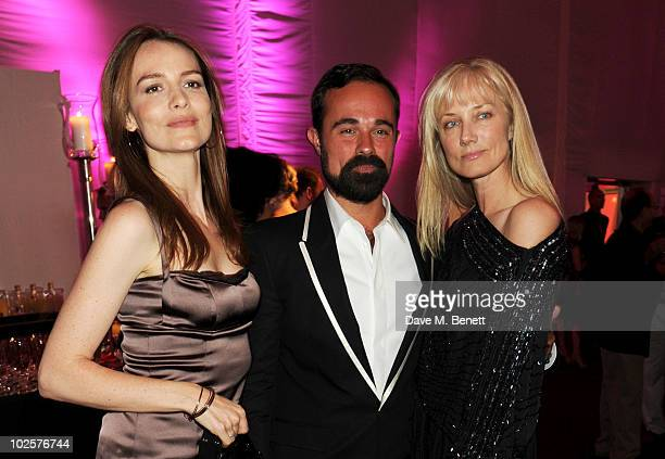 Saffron Burrows Evgeny Lebedev and Joely Richardson celebrated in style at The Old Vic 192 Summer Party supported by W Doha at Battersea Power...