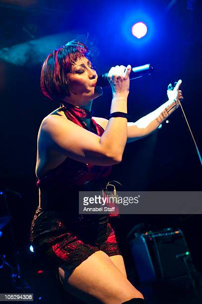 Saffron of Republica performs on stage at O2 Islington Academy on October 13 2010 in London England