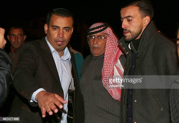 Safi Al Kasasbeh the father of Jordanian pilot Muath al Kasasbeh who has been taken hostage by ISIS speaks to the media after meeting with Jordan's...