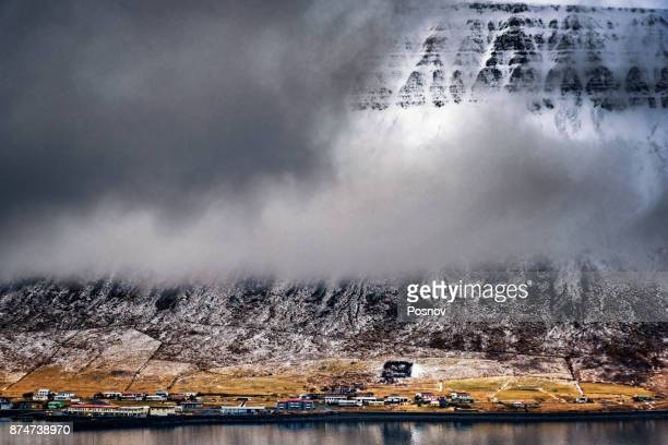 ísafjörður, the town in the westfjords region of iceland - westfjords iceland stock photos and pictures