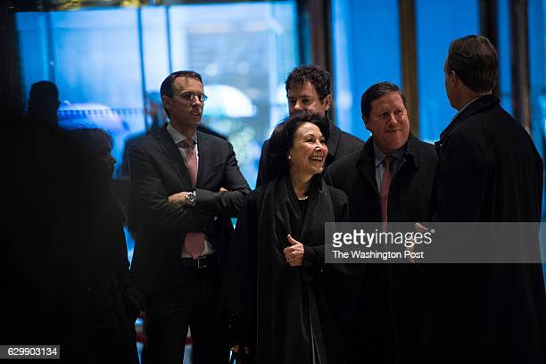 Safra Catz CEO of Oracle arrives at Trump Tower in New York NY on Wednesday Dec 14 2016