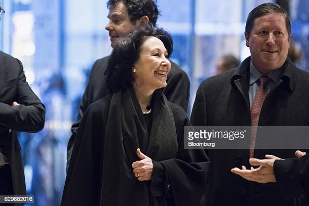 Safra Catz cochief executive officer of Oracle Corp arrives at Trump Tower in New York US on Wednesday Dec 14 2016 Presidentelect Donald Trump will...