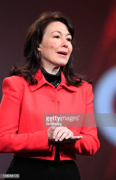 Safra Catz copresident and chief financial officer of Oracle Corp speaks during the Oracle OpenWorld 2011 conference in San Francisco California US...