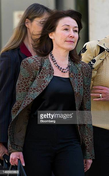 Safra Catz copresident and chief financial officer of Oracle Corp exits superior court in San Jose California US on Tuesday June 18 2012 Catz...