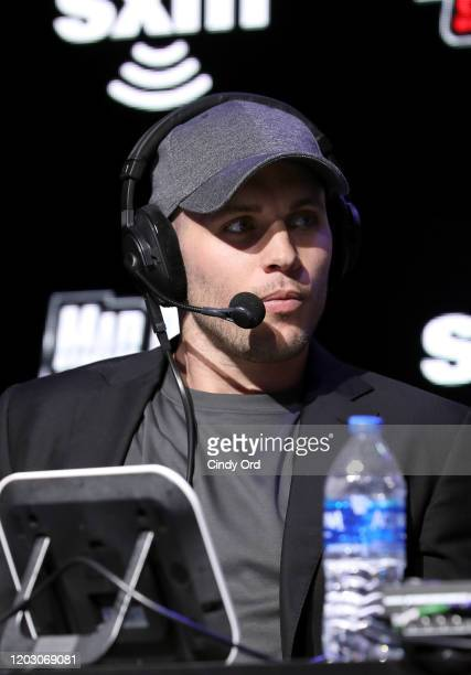NFL saftey Harrison Smith of the Minnesota Vikings speaks onstage during day 2 of SiriusXM at Super Bowl LIV on January 30 2020 in Miami Florida