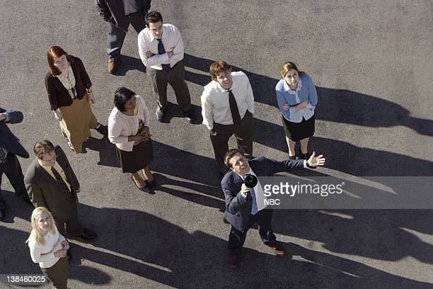 THE OFFICE Saftey Training Episode 20 Aired 4/12/07 Pictured Angela Kinsey as Angela Martin Rainn Wilson as Dwight Schrute Kate Flannery as Meredith...