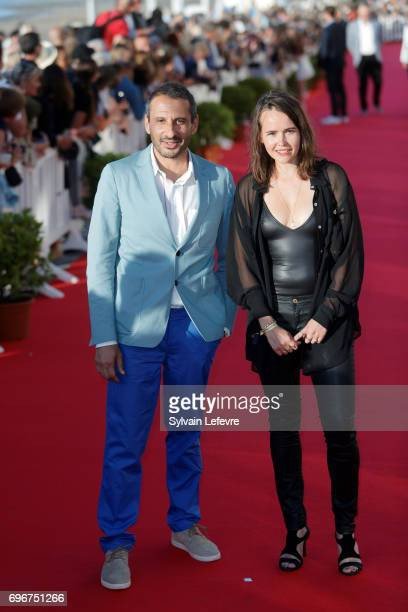 Safy Nebbou and guest attend red carpet of 3rd day of the 31st Cabourg Film Festival on June 16 2017 in Cabourg France