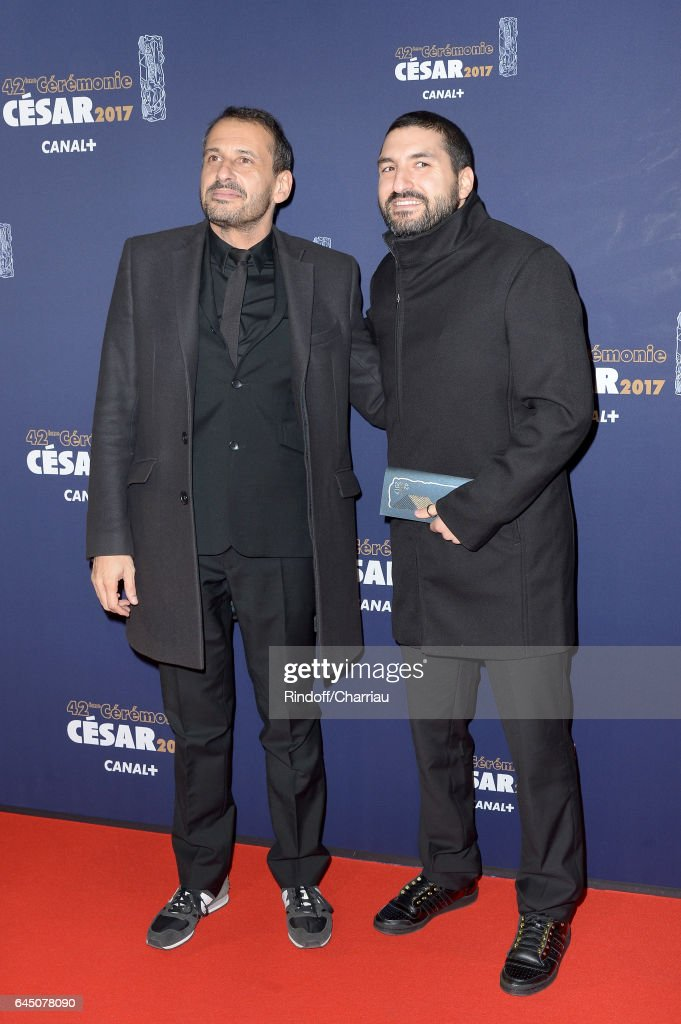 Safy Nebbou and Ibrahim Maalouf arrive at the Cesar Film Awards Ceremony at Salle Pleyel on February 24, 2017 in Paris, France.