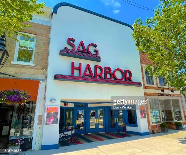 sag harbor cinema on main street, sag harbor - sag harbor stock pictures, royalty-free photos & images