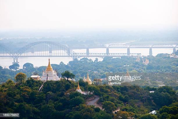 Sagaing and the Bridge to Mandalay, Myanmar