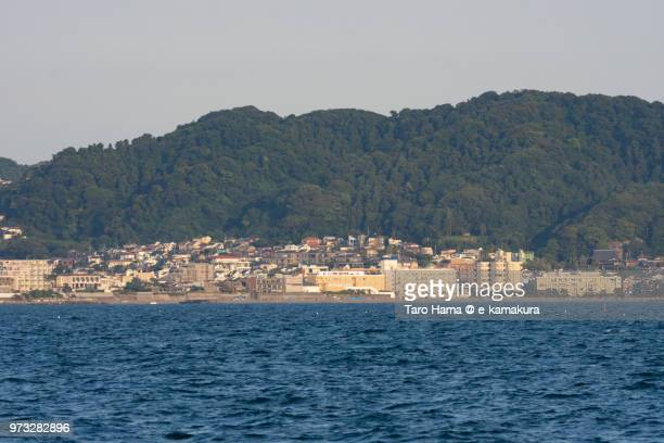Sagami Bay and Hayama town in Kanagawa in Japan