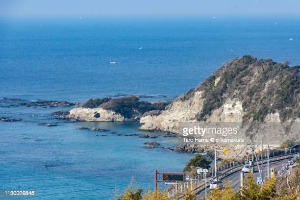 Sagami Bay, Pacific Ocean and Choujyagasaki in Yokosuka city in Kanagawa prefecture in Japan