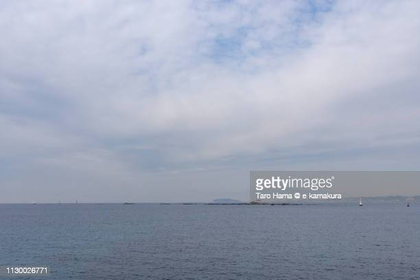 Sagami Bay, Pacific Ocean and Morito Beach in Hayama town in Kanagawa prefecture in Japan