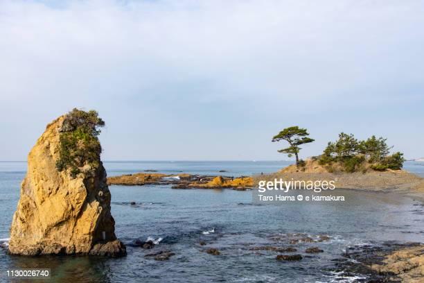 Sagami Bay, Pacific Ocean and Tateishi Beach in Yokosuka city in Kanagawa prefecture in Japan