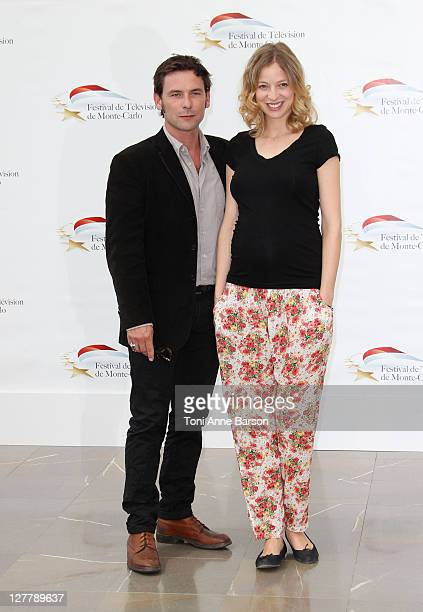 Sagamore Stevenin and Elodie Frenck attend Photocall for 'T'es Pas La Seule' at the Grimaldi Forum on June 10 2011 in Monaco Monaco