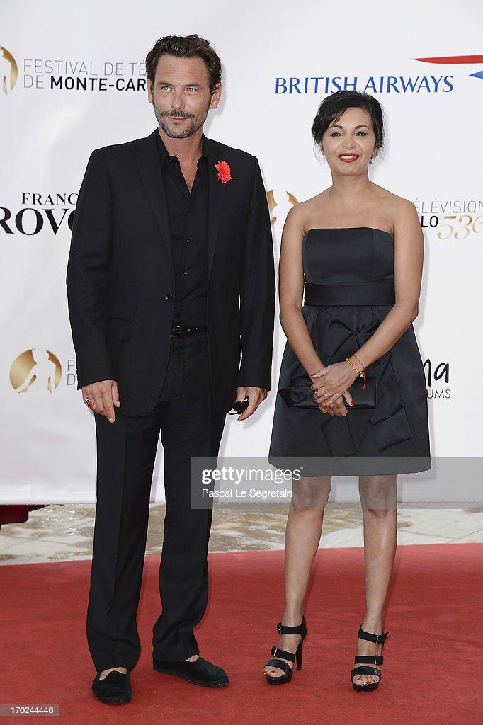 Sagamore Stevenin and guest attend the opening ceremony of the 53rd Monte Carlo TV Festival on June 9, 2013 in Monte-Carlo, Monaco.