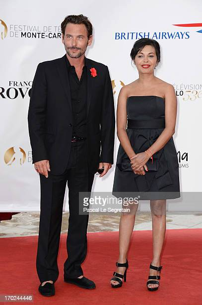 Sagamore Stevenin and guest attend the opening ceremony of the 53rd Monte Carlo TV Festival on June 9 2013 in MonteCarlo Monaco