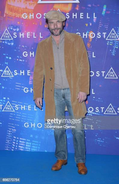 Sagamore Stevenin attends the Paris Premiere of the Paramount Pictures release 'Ghost In The Shell' at Le Grand Rex on March 21 2017 in Paris France