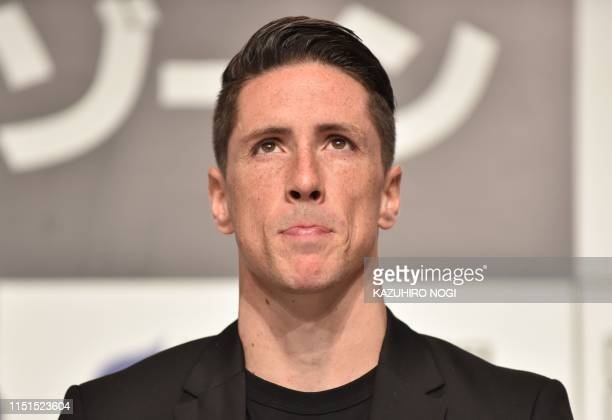 Sagan Tosu forward Fernando Torres holds a press conference about his retirement from football in Tokyo on June 23, 2019.