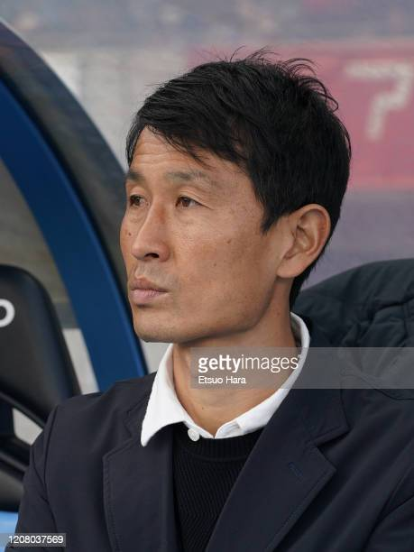 Sagan Tosu head coach Kim Myung Hwi looks on prior to the JLeague MEIJI YASUDA J1 match between Kawasaki Frontale and Sagan Tosu at Todoroki Stadium...
