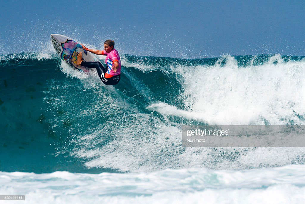Sage Erickson winner of Pantin Classic Galicia Pro 2016, Qualifying Series 6,000 of World Surf League (WSL) celebrated in the Pantin beach, A Coruña, Galicia, Spain on 30-4 September, 2016.