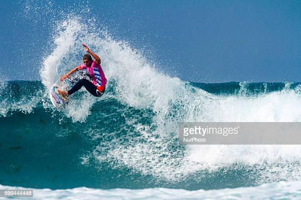 Sage Erickson winner of Pantin Classic Galicia Pro 2016 Qualifying Series 6000 of World Surf League celebrated in the Pantin beach A Coruña Galicia...
