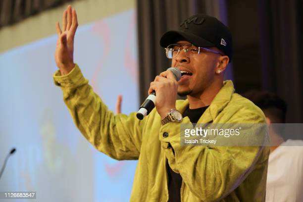 Sage Harris performs at the 5th Annual Black Arts and Innovation Expo at Toronto's Arcadian Court on February 21 2019 in Toronto Canada