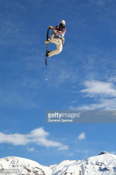 Sage Kotsenburg of the United States competes in the Snowboard Men's Slopestyle Final during day 1 of the Sochi 2014 Winter Olympics at Rosa Khutor...